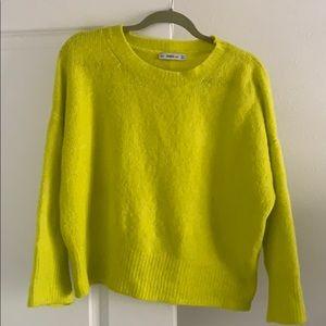 Neon Zara sweater!